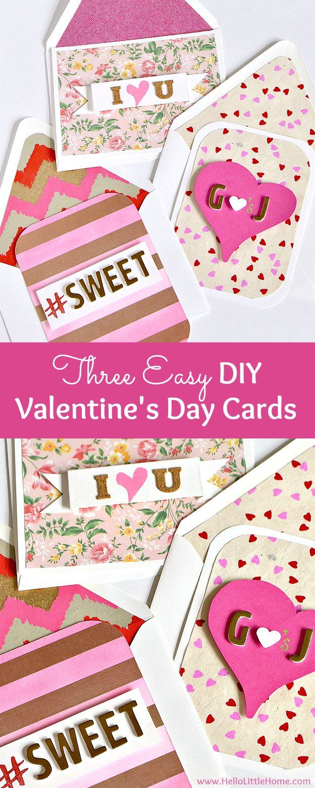 3 Easy Diy Valentine S Day Cards Card Making Tutorials Romantic