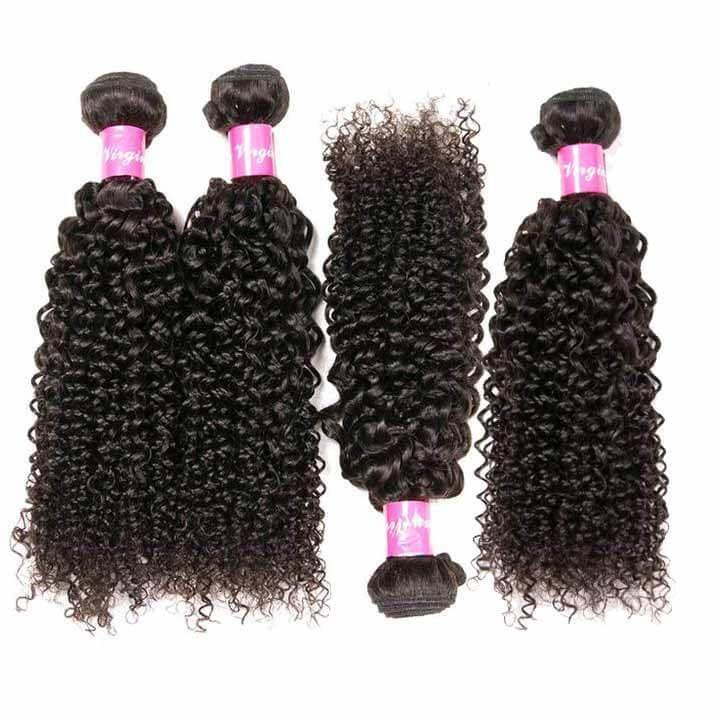 eullair Indian Virgin Hair Jerry Curly 4 Bundles Free Shipping #virginhair