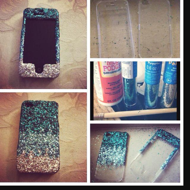 I made this case. It's not hard at all and it's super cute. DIY ombre glitter phone case