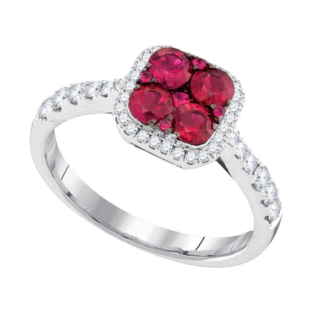 1/3CTW-Diamond 3/4(MIN)CT RUBY RING