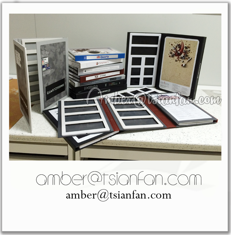 Quartz Stone Sample Binder / Book / Folder /