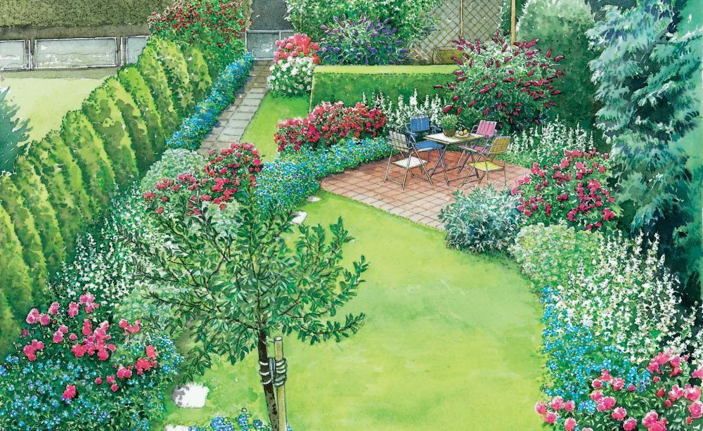 Gestaltungsideen f r einen kleinen reihenhausgarten tr dg rdsid er garten garten ideen und - Gartenhaus neu gestalten ...