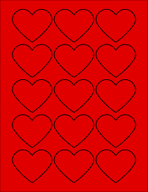 image regarding Printable Red Hearts referred to as Legitimate Crimson - Center Labels - Middle Stickers 2.2754\
