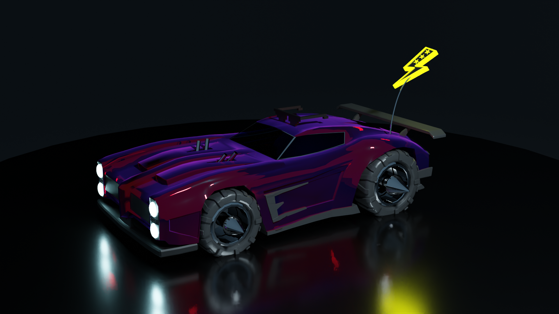 Dominus From Rocket League In Blender 1920x1080 Rocket League Rocket League Wallpaper Fantasy Cars