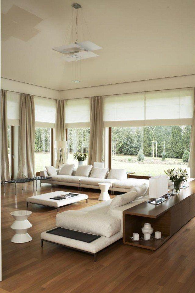 am nagement salon contemporain 32 photos et id es cool. Black Bedroom Furniture Sets. Home Design Ideas