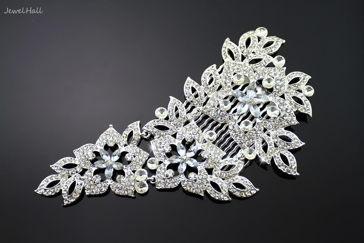 Unique Attractive Alloy with Rhinestone Wedding Bridal Tiara: jewelhall.com
