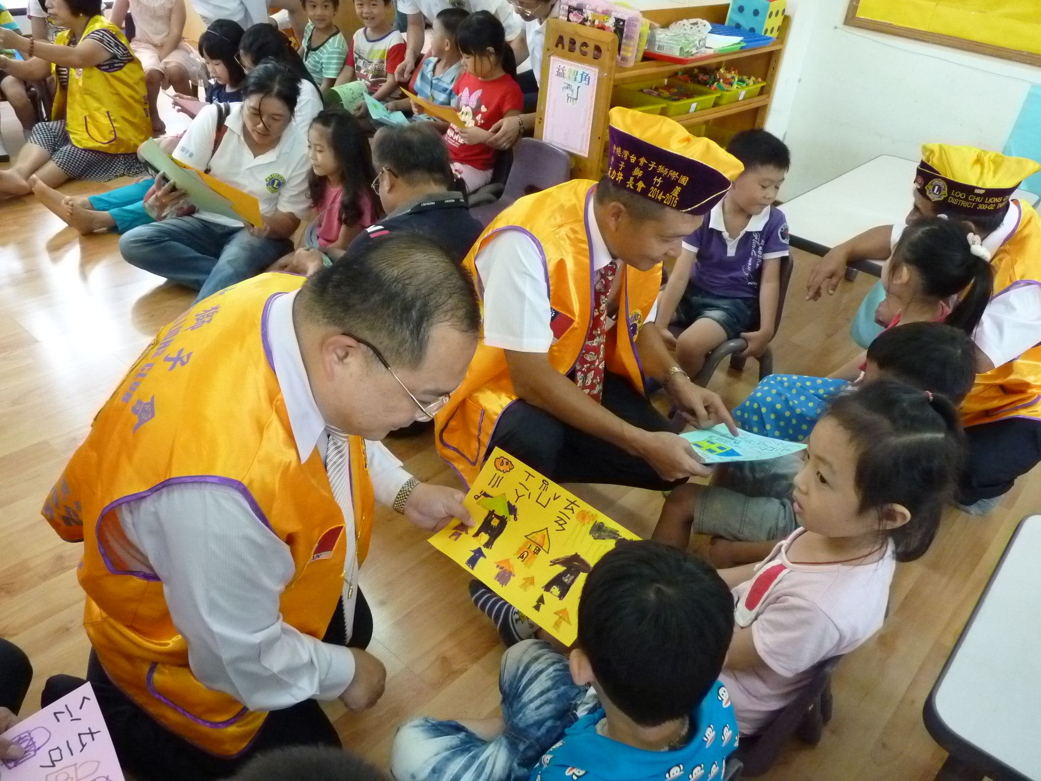 Taoyuan Loochu #LionsClub (Taiwan) organized kindergarten painting session focused on a caring for things