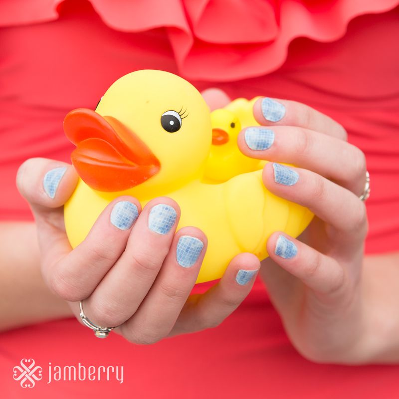 Jamberry nail wraps are perfect for splashing around the pool this summer. They form a water-tight bond with your nails so they last up to 2 weeks!