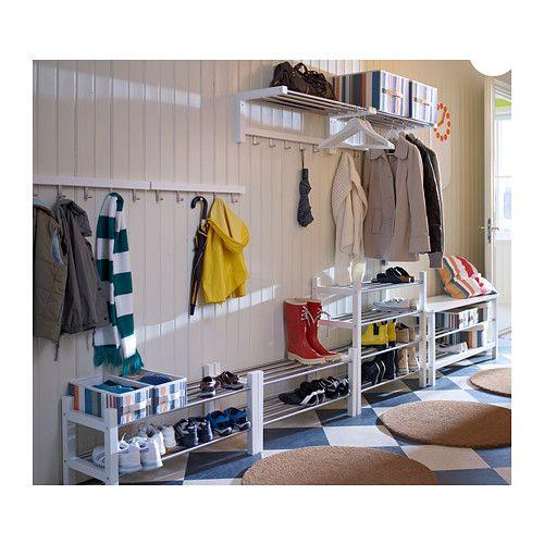 tjusig shoe rack black shoe rack storage and spaces. Black Bedroom Furniture Sets. Home Design Ideas