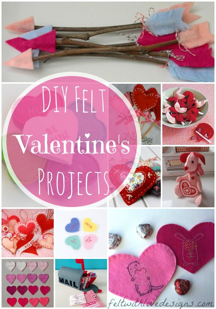 Diy Felt Valentine S Projects And Free Patterns Felt With Love