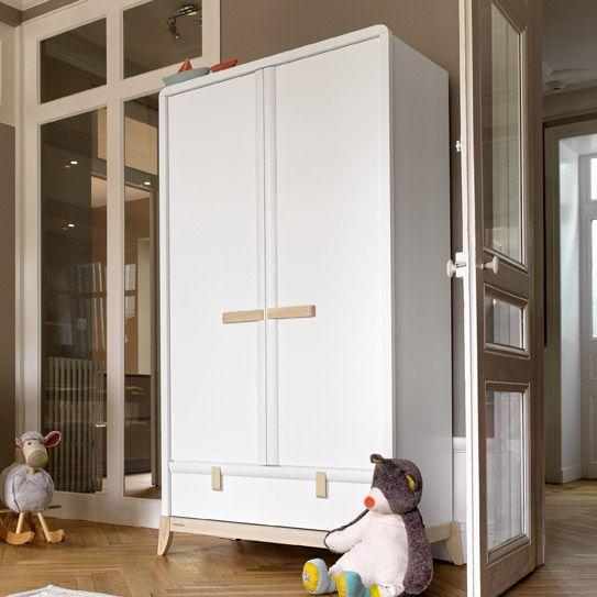 armoire avec 2 portes 1 tiroir pour chambre b b enfant flocon moulin roty pour les. Black Bedroom Furniture Sets. Home Design Ideas