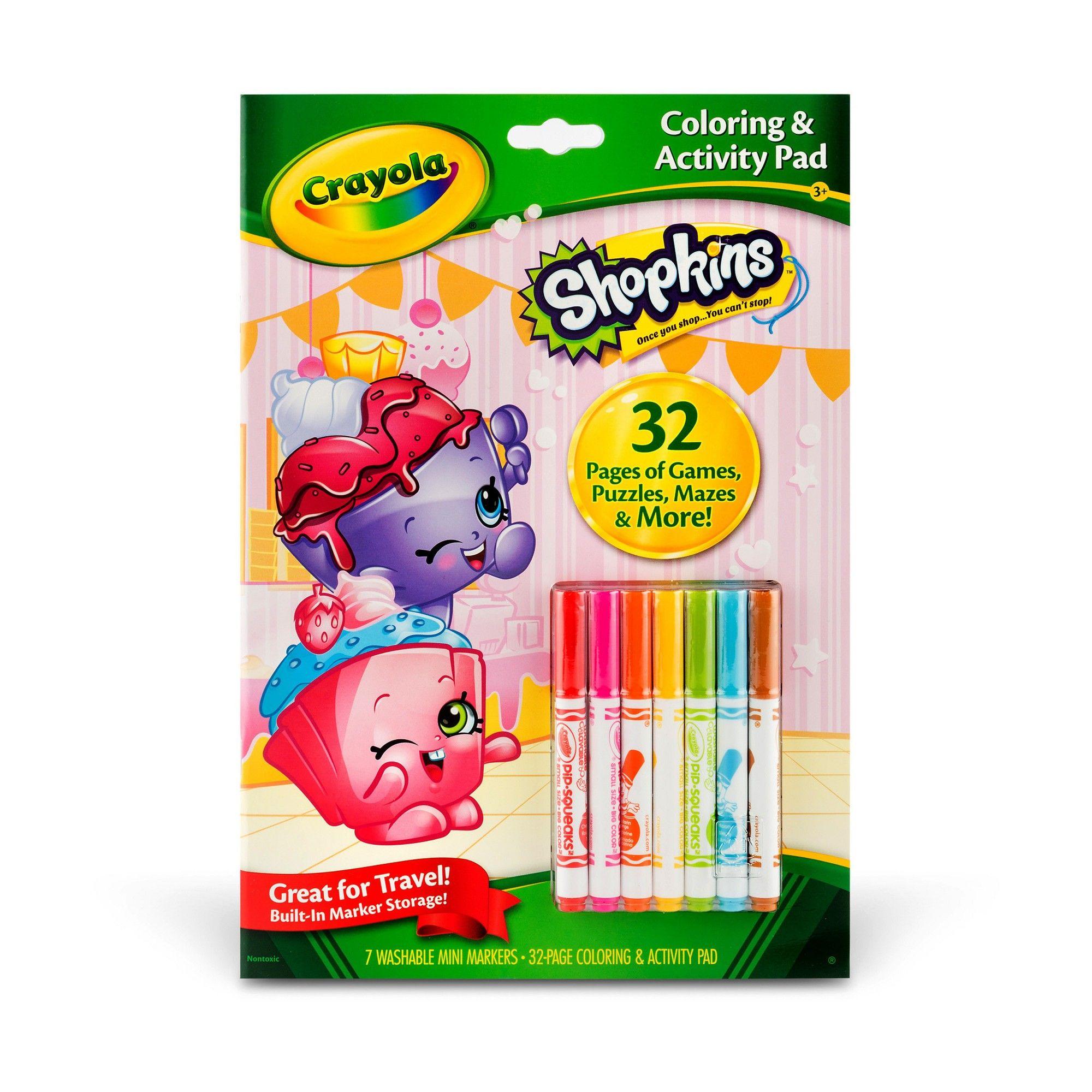Coloring Books Crayola Multicolor Multi Colored Crayola Shopkins Coloring Stickers
