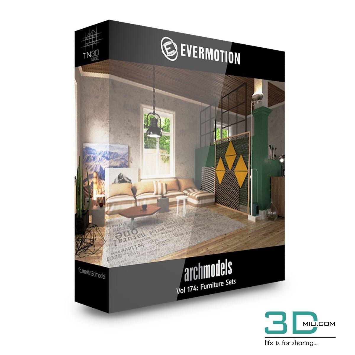 Evermotion Archmodels Vol 174: Furniture Sets - 3D Mili