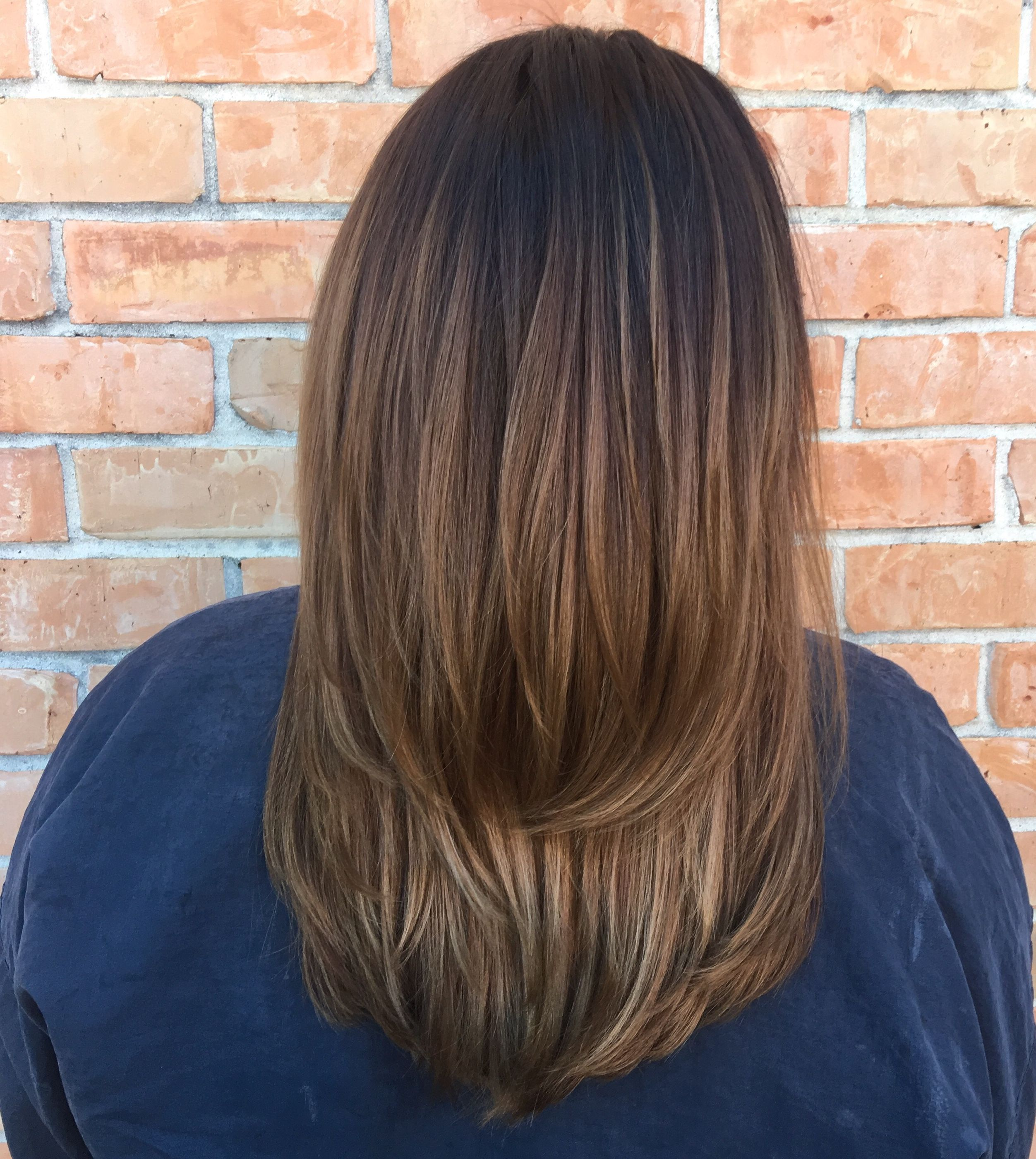 Did a quick touch up on brunetter ombre today IG demejames FB