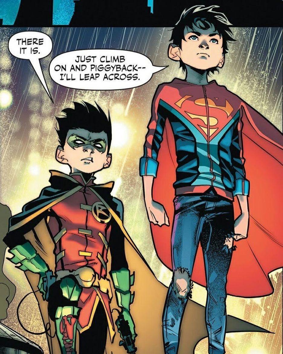 jon kent and damian wayne s per sons superheroes comics comics dc comics marvel. Black Bedroom Furniture Sets. Home Design Ideas