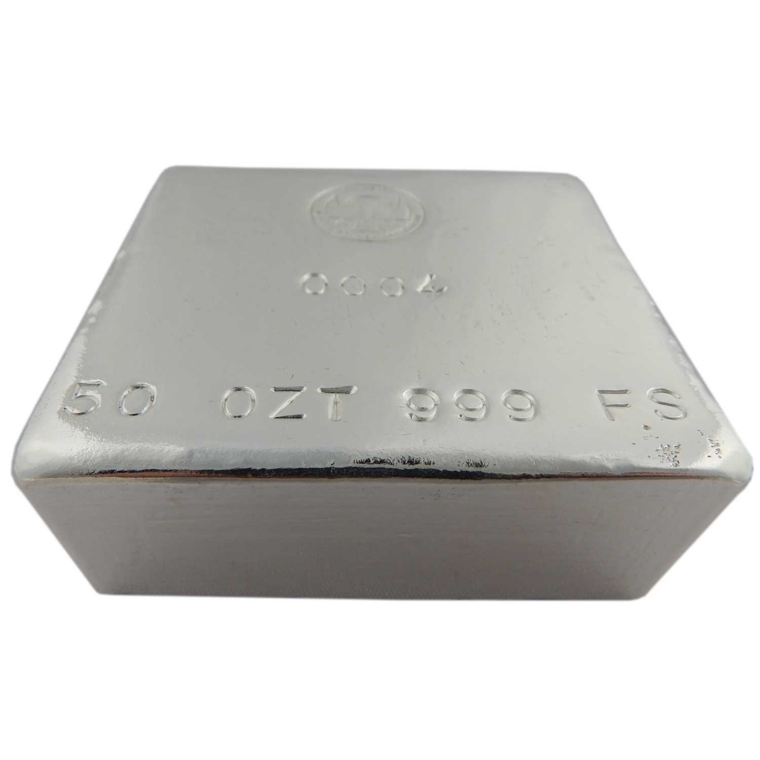 50 Oz Hand Poured Silver Bar The Doorstop By Shinybars Silver Bars Silver Spot Price Silver
