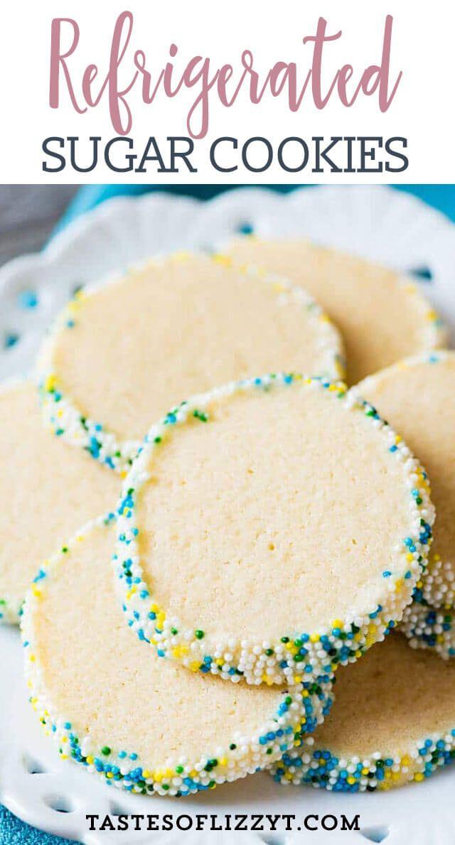 Refrigerated Sugar Cookies {Easy Slice 'n Bake Sugar Cookie Recipe}