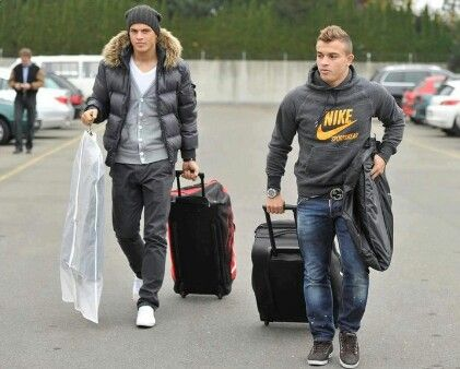 Xherdan Shaqiri And Granit Xhaka Mens Fashion Casual Wear Mens Fashion Urban Soccer Players