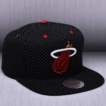 outlet store e792e 8e1b2 Mitchell   Ness NBA Miami Heat Dotted Cotton Snapback Kepurė
