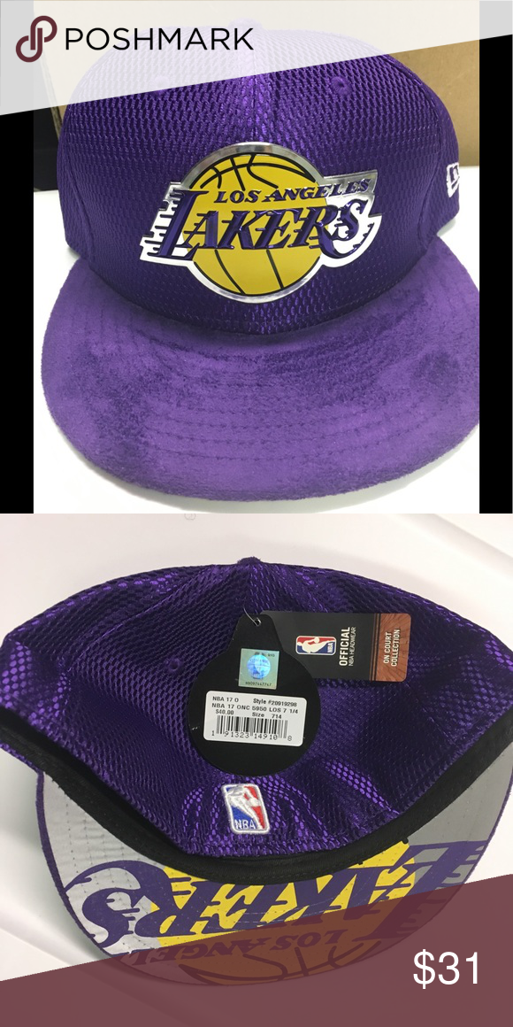 buy popular 55fbe 2f36c LOS ANGELES LAKERS PURPLE 2017 NBA FITTED HAT NEW ERA LOS ANGELES LAKERS  PURPLE 2017 NBA DRAFT OFFICIAL ON COURT COLLECTION 59FIFTY FITTED HAT New  Era ...