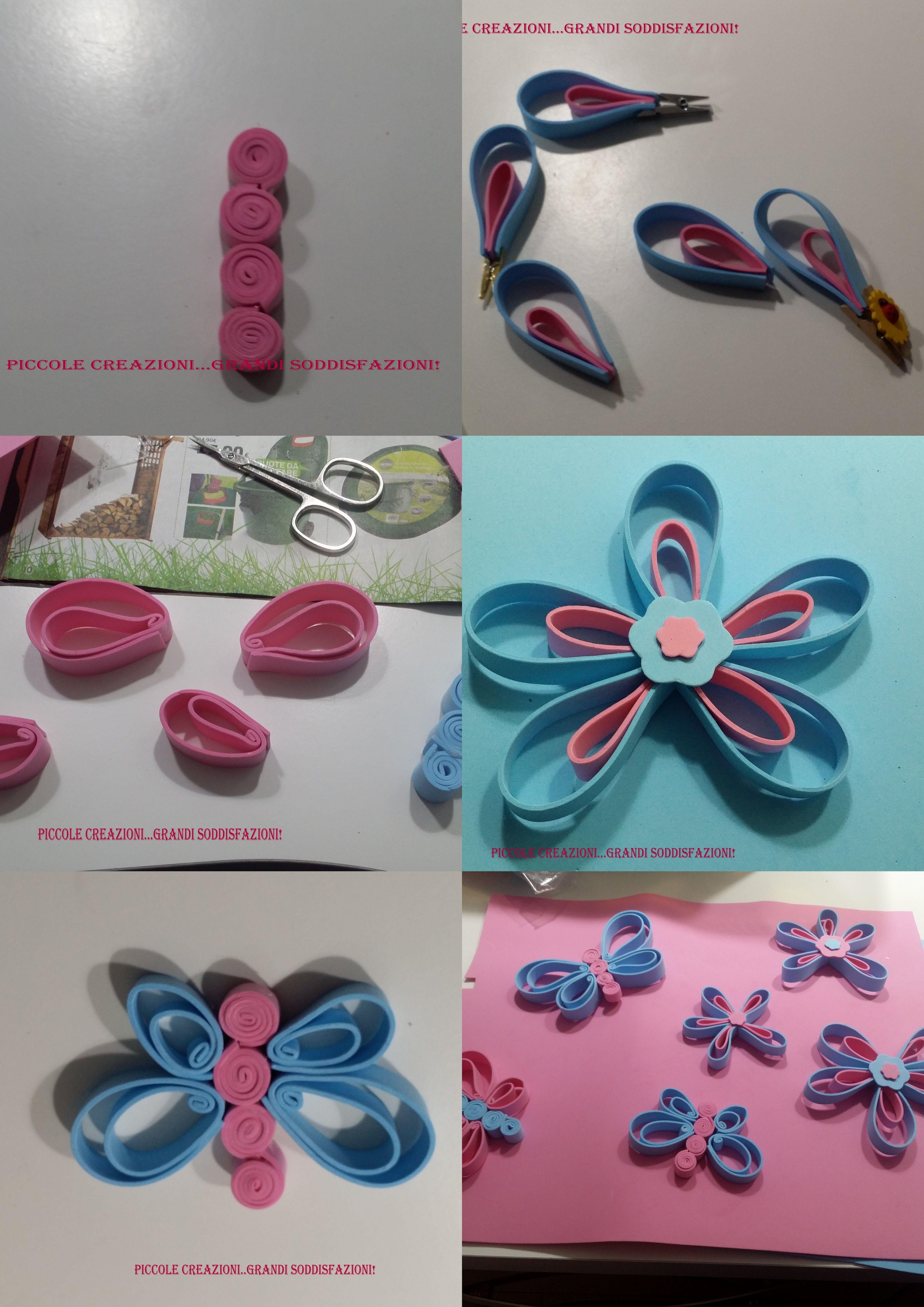 Farfalle Fai Da Te fiori e farfalle in gomma crepla (con immagini) | fiori
