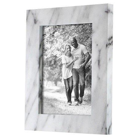 Single Image Frame Marble Finish Black White 5x 7 Threshold