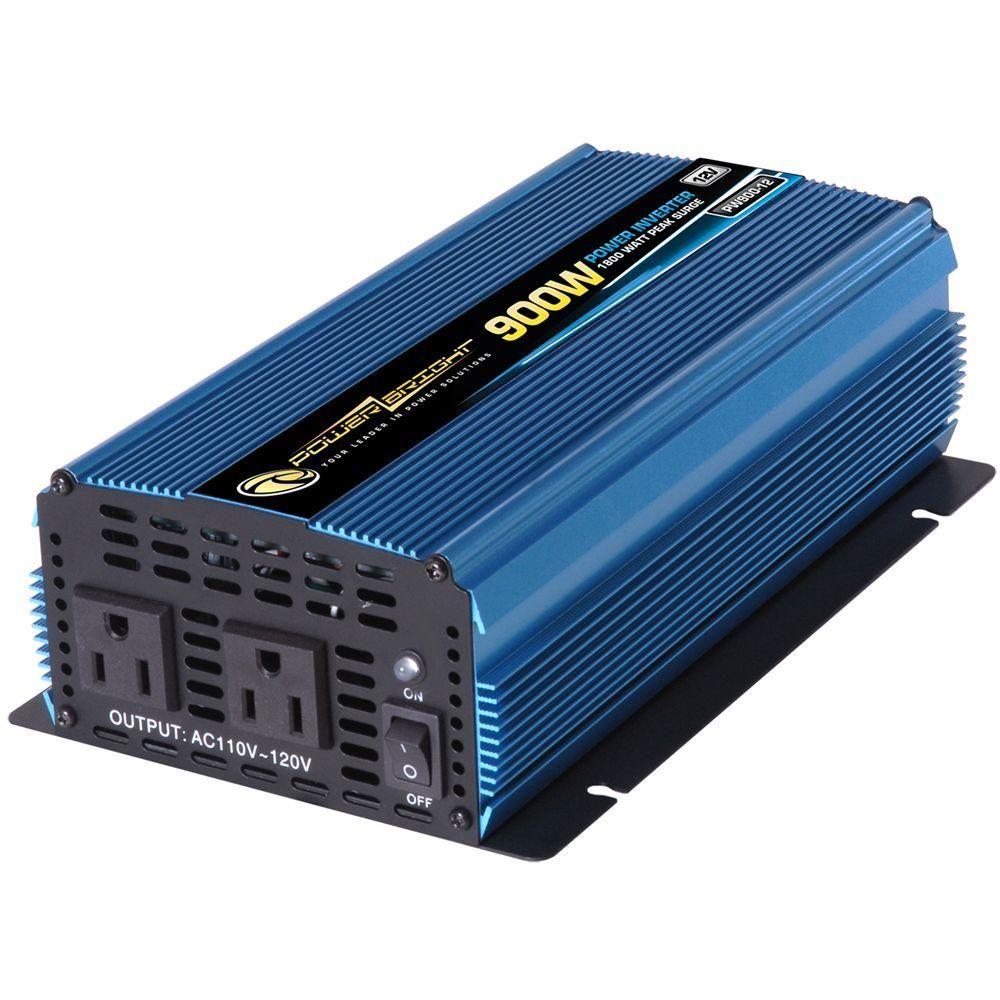 Power Bright 12 Volt DC to AC 900-Watt Power Inverter in 2019