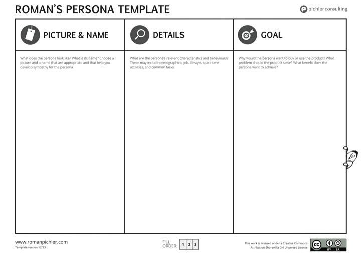 Roman Pichler New Improved Persona Template HttpWww