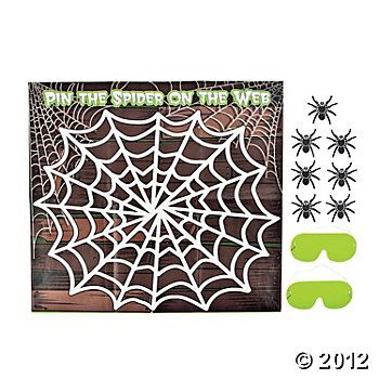 Pin The Spider On The Web Game