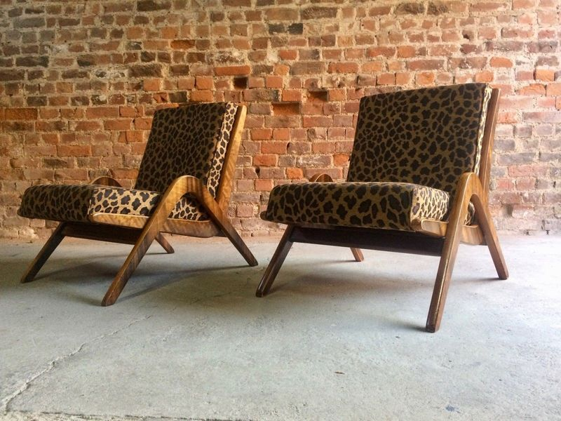 Mid Century Boomerang Chairs Pair By Neil Morris For Morris Of