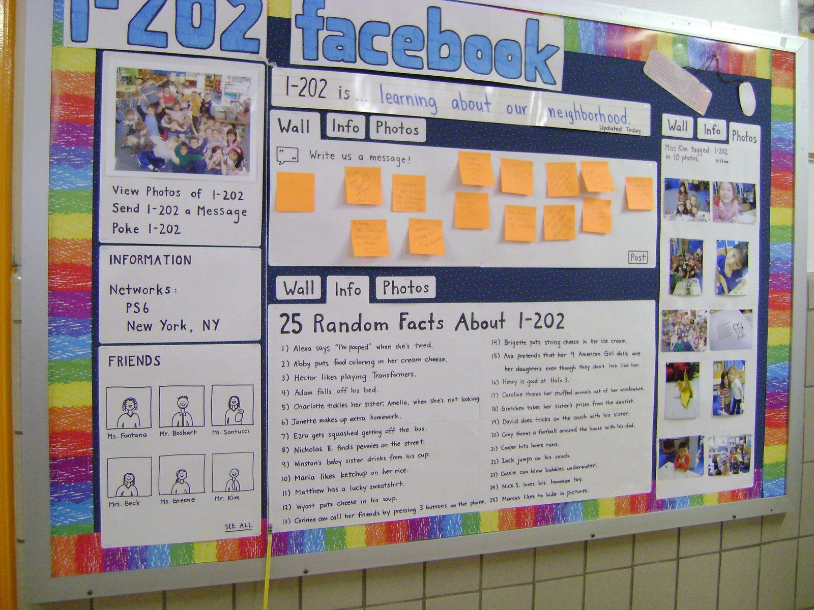 Build A Bulletin Board Facebook Account I Like The Status Update Near The Top The Learning