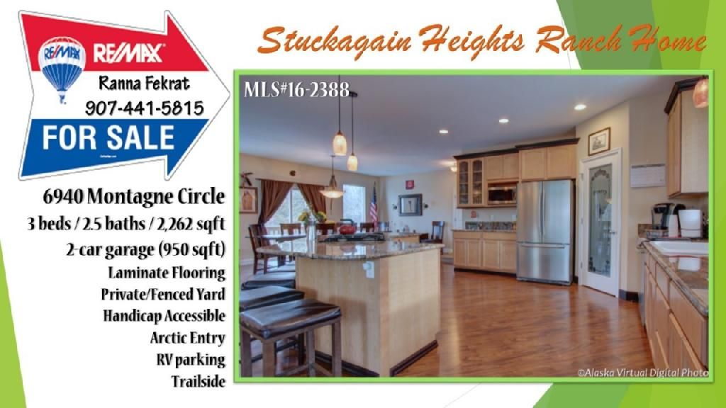 Stuckagain Heights Ranch Home For Sale 6940 Montagne Circle 3bd