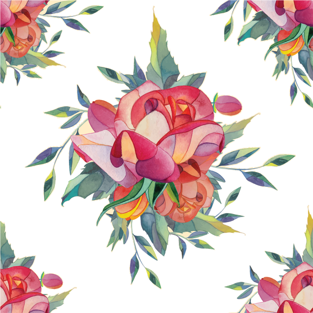 Watercolor Flower Background With Beautiful Rose Rose Flowers