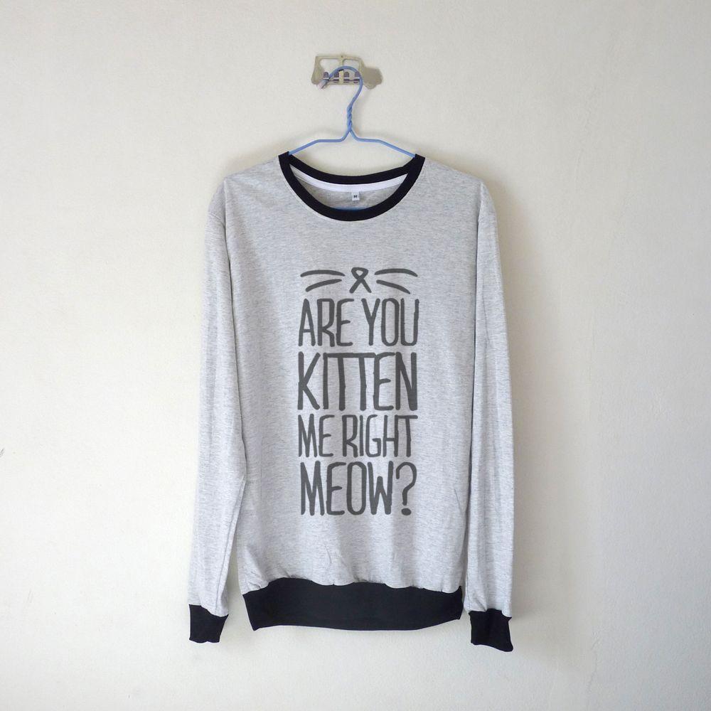 Are You Kitten Me Right Meow Sweatshirt American Horror Story Sweatshirts Hogwarts Alumni Shirt