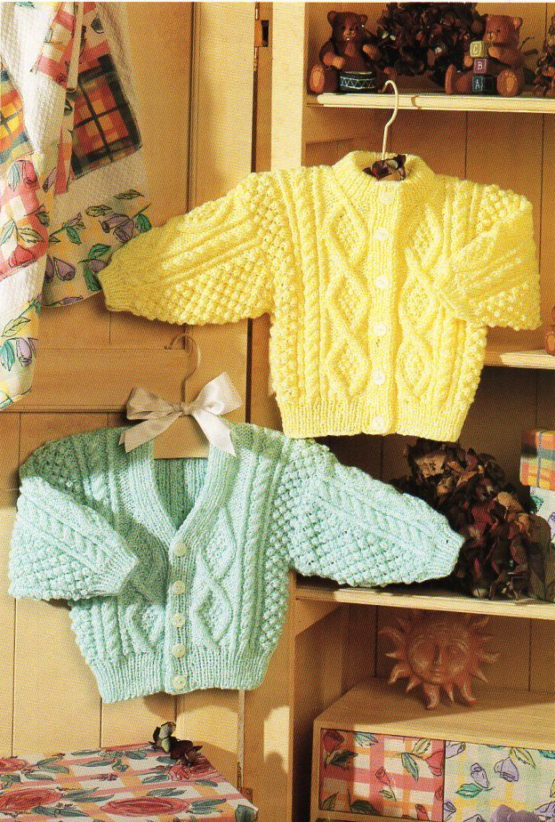 Baby Childrens Aran Cardigans Baby Aran Knitting Pattern Pdf Aran Knitting Patterns Free Aran Knitting Patterns Aran Cardigan