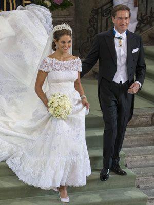 el vestido de novia de magdalena de suecia   weddings