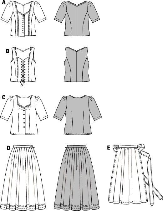 Burda Style, Dirndl Dress pattern 7870 | Octoberfest- Carroza ...