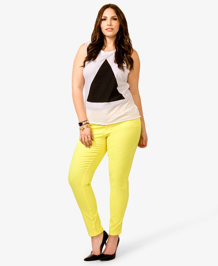 Lacquered Skinny Jeans | FOREVER21 PLUS - 2022551526