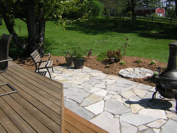 Deck And Flagstone Patio   Google Search