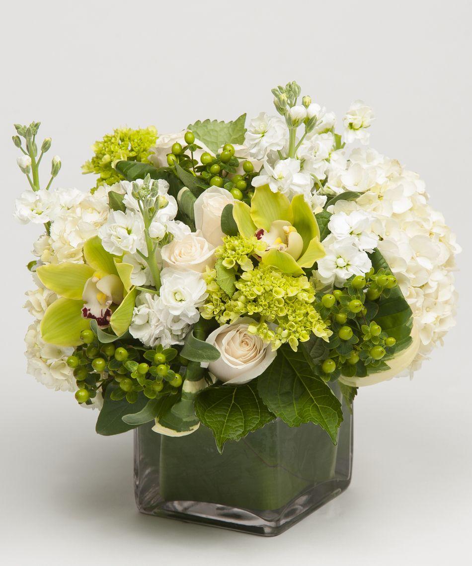 Designer's Choice White White flower arrangements