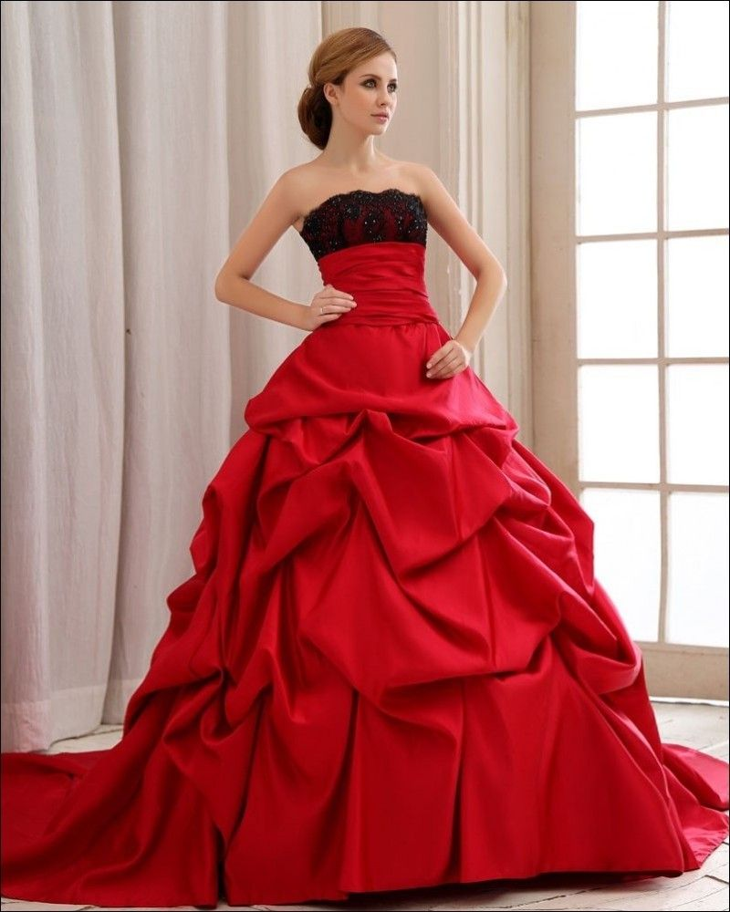 New Stylish Red Gown Wedding Dresses Collection 2015 For Women (7 ...