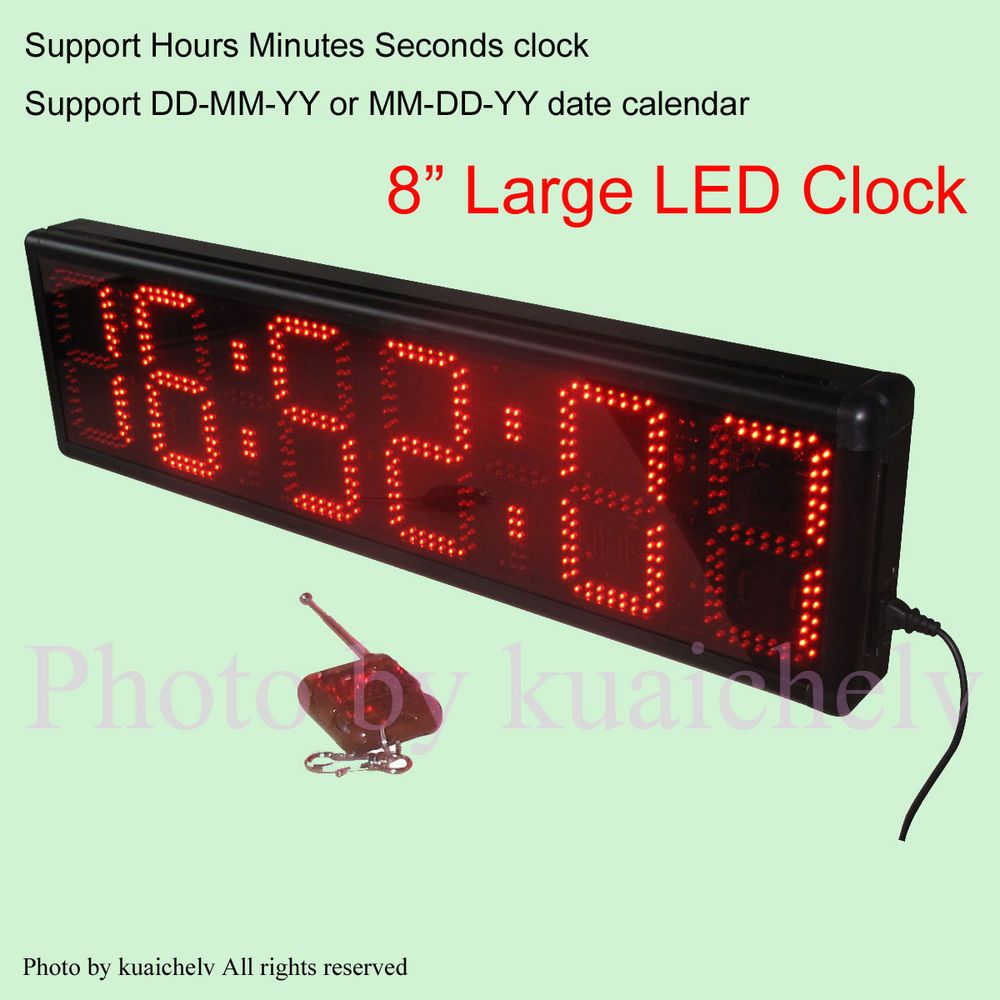 Large countdown clock 8 high character operated by remote control 8 high digit outdoor led wall clock led countdown timer giant led digital timer amipublicfo Images