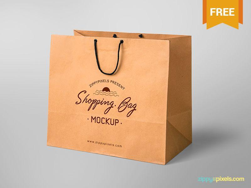 Download Free Shopping Bag Mockup Bag Mockup Shopping Bag Design Custom Shopping Bags