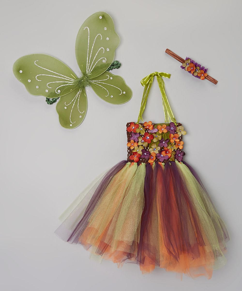 Green & Purple Fall Fairy Tutu Dress Set - Infant & Toddler | zulily - Enchanted Fairywear Couture (too small for M)