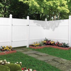 windham white vinyl fence at