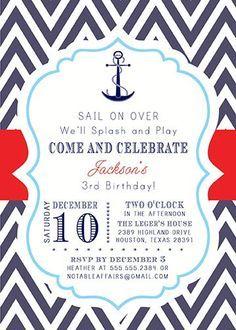 sailor party invite Google Search Sailor Party Theme Pinterest