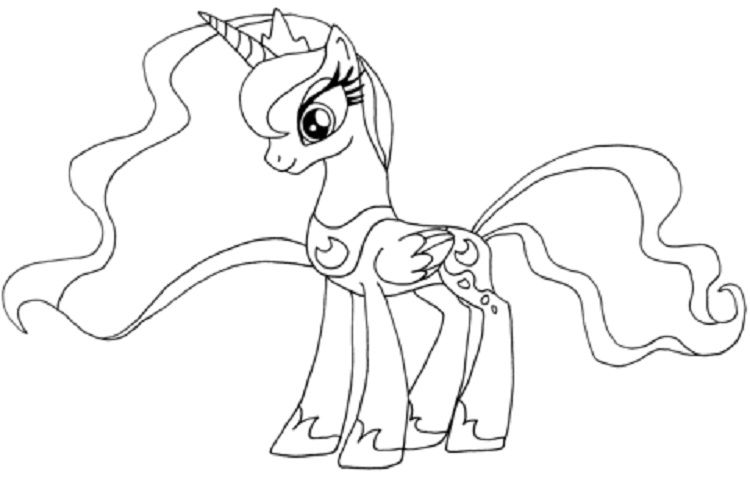 my little pony coloring pages princess luna | Coloring Pages For ...