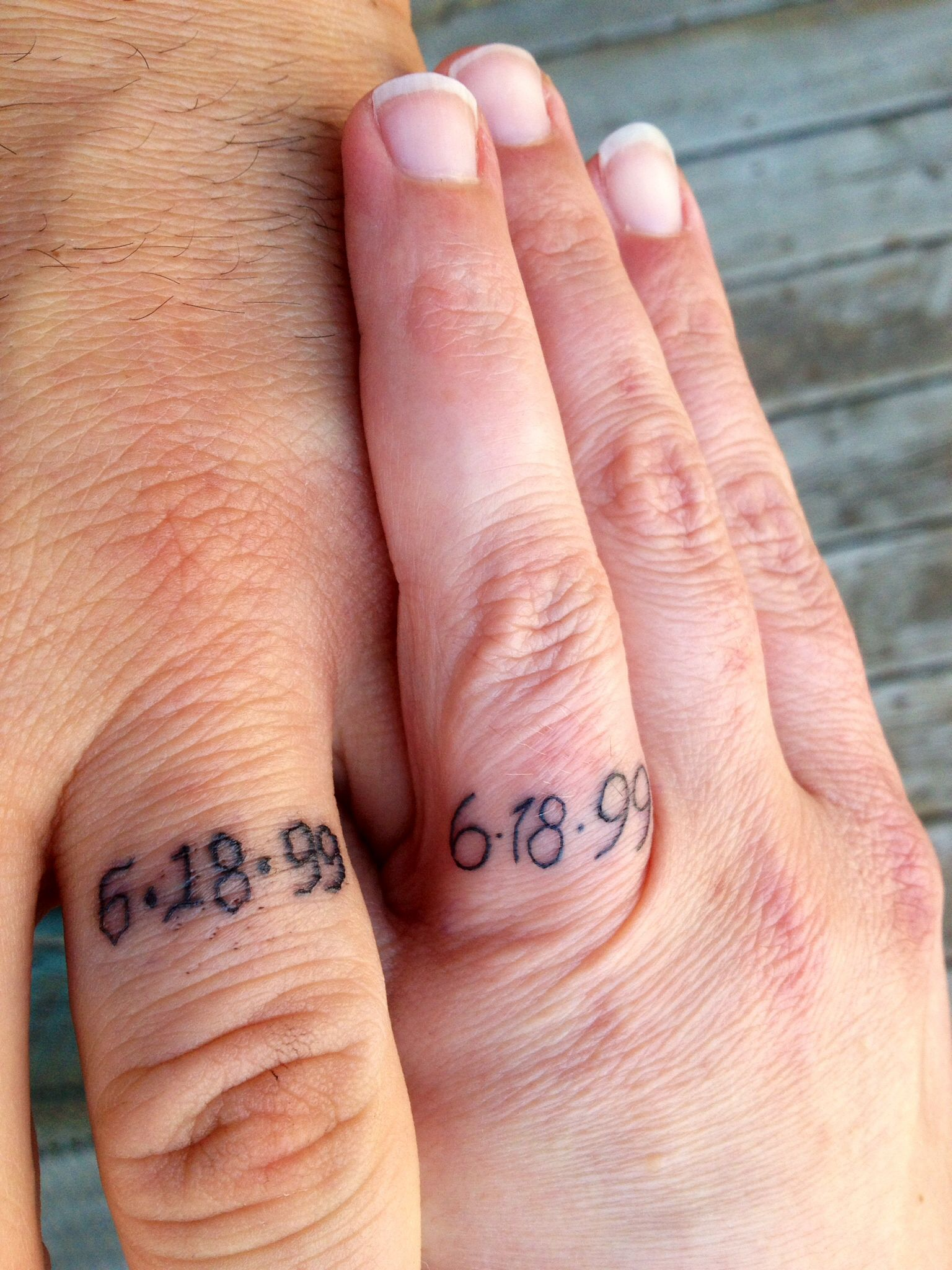 Finally got our anniversary wedding ring tattoos! | Tats | Pinterest ...