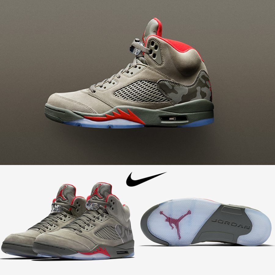 3e946c0d3769 NIKE AIR JORDAN 5 RETRO CAMO DARK STUCCO UNIVERSITY RED 136027 051   jordansdaily  airjordan