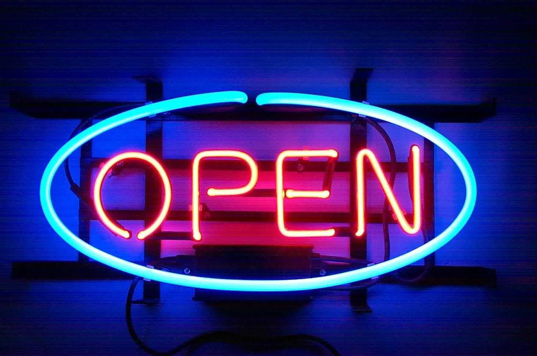 Neon Bar Signs Open